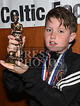 Ardee Celtic Under 12 player of the year Trevor Farrell at the Ardee Celtic annual awards night in Ardee parish centre. Photo:Colin Bell/pressphotos.ie