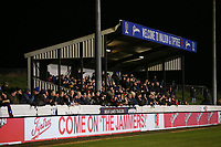 A bumper crowd in the main stand during Maldon & Tiptree vs Newport County, Emirates FA Cup Football at the Wallace Binder Ground on 29th November 2019