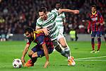 UEFA Champions League 2013/2014.<br /> FC Barcelona vs Celtic FC: 6-1 - Game: 6.<br /> Martin Montoya vs Boerrigter.