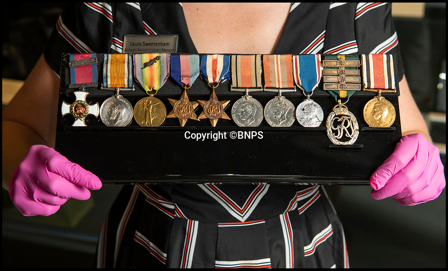 BNPS.co.uk (01202 558833)<br /> Pic: PhilYeomans/BNPS<br /> <br /> Lt Clement Arnold's medals.<br /> <br /> Moving and miraculous survivor from 100 years ago - fragile timepiece reveals a remarkable story of courage, death and unlikely friendship from the Western Front.<br /> <br /> An unlikely friendship between a British World War One tank commander and the German foe who saved his life has come to light 100 years after they first met on the battlefield.<br /> <br /> Lieutenant Clement Arnold, of the Tank Corps, had been in charge of a Whippet tank which ploughed through the German defences and wreaked havoc on their trenches at the Battle of Amiens on the 8/8/1918, before recieving a direct hit and catching fire, forcing the three man crew to bail out.<br /> <br /> The enraged German soldiers bayoneted to death the tank driver, Private W J Carnie, but before Lt Arnold suffered the same fate, German officer Ritter Ernst von Maravic stepped in and ordered that he and the tank's gunner were taken prisoner instead.<br /> <br /> As a gesture of gratitude, Lt Arnold gave von Maravic the prized  wristwatch given to him by his father, his most valuable possession.<br /> <br /> Amazingly the two foes then made contact and became friends in the 1930's when von Maravic returned the watch to Clement Arnold and even holidayed in Llandudno with the Arnold family. <br /> <br /> Yesterday Lt Arnold's nephew Jolyon(83) visited the Tank Museum museum in Dorset to retell the astonishing story.