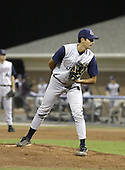 August 25, 2004:  Pitcher Andy Weimer of the Hudson Valley Renegades, NY-Penn League (Short Season Single-A) affiliate of the Tampa Bay Devil Rays during a game at Dwyer Stadium in Batavia, NY.  Photo by:  Mike Janes/Four Seam Images
