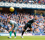 21.07.2019: Rangers v Blackburn Rovers: Nikola Katic aims a header towards goal