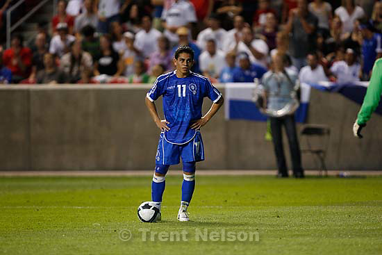 Sandy - El Salvador forward Rodolfo Zelaya reacts to an offside call late in the second half. USA vs. El Salvadar FIFA World Cup Qualifier Soccer Saturday, September 5 2009 at Rio Tinto Stadium. .