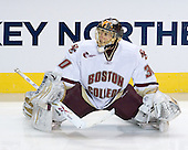 Chris Venti (BC - 30) - The Boston College Eagles defeated the Yale University Bulldogs 9-7 in the Northeast Regional final on Sunday, March 28, 2010, at the DCU Center in Worcester, Massachusetts.