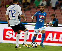 Lorenzo Insigne  during the  italian serie a soccer match,between SSC Napoli and Atalanta      at  the San  Paolo   stadium in Naples  Italy , August 27, 2017