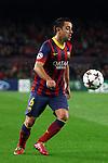 UEFA Champions League 2013/2014.<br /> FC Barcelona vs Celtic FC: 6-1 - Game: 6.<br /> Xavi Hernandez.
