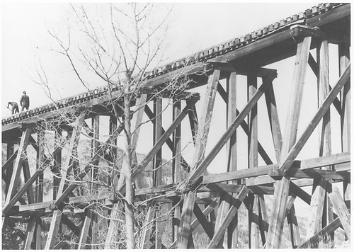 Details of bents of trestle 160-A.<br /> RGS  Franklin Junction, CO