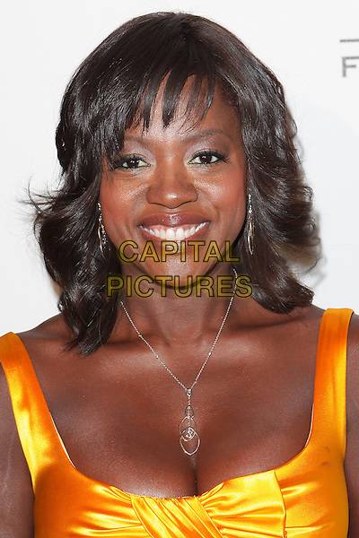 "VIOLA DAVIS .""Friendly House""  20th Annual Luncheon  held at   The Beverly Hilton Hotel, Beverly Hills, California, USA, .24th October 2009..portrait headshot fringe yellow necklace cleavage .CAP/ADM/TC.©T.Conrad/Admedia/Capital Pictures"