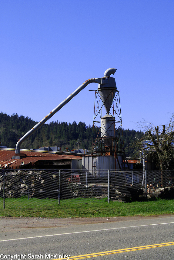 The Redwood Company, a sawmill, in Willits in Mendocino County in Northern California.