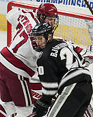 Lewis Zerter-Gossage (Harvard - 77), Kasper Björkqvist (PC - 20) - The Harvard University Crimson defeated the Providence College Friars 3-0 in their NCAA East regional semi-final on Friday, March 24, 2017, at Dunkin' Donuts Center in Providence, Rhode Island.