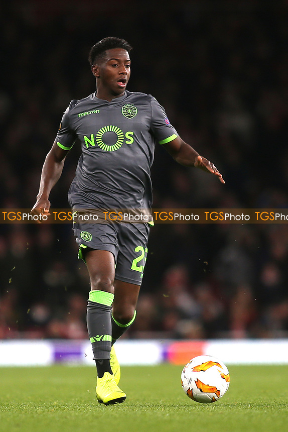 Abdoulay Diaby of Sporting Lisbon in action during Arsenal vs Sporting Lisbon, UEFA Europa League Football at the Emirates Stadium on 8th November 2018