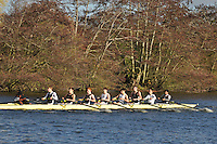 041 .SPS-Wilcockson .J18A.8+ .St Pauls Sch BC. Wallingford Head of the River. Sunday 27 November 2011. 4250 metres upstream on the Thames from Moulsford railway bridge to Oxford Universitiy's Fleming Boathouse in Wallingford. Event run by Wallingford Rowing Club..