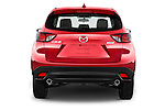Straight rear view of2016 Mazda CX5 Premium Edition 5 Door SUV Rear View  stock images
