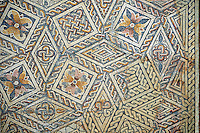 4th century Roman geometric moisaic from Merida, Merida Archaeological Museum, Spain