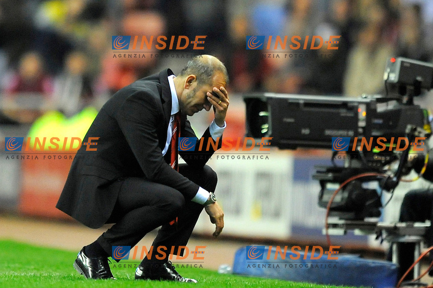 Sunderland manager Paolo Di Canio rues a missed chance on goal - Barclays Premier League - Sunderland vs Stoke City  - Stadium of Light - Sunderland - 06/05/13 - Picture Richard Lee/Sportimage .Football Calcio 2012/2013.Premier League.Foto Insidefoto .ITALY ONLY