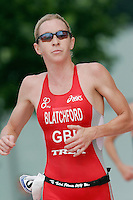06 AUG 2006 - LONDON, UK - Liz Blatchford - London Triathlon '06. (PHOTO (C) NIGEL FARROW)