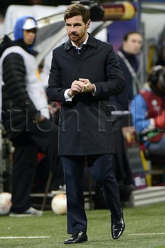 14.03.2013. Milan, Italy. Europa League second leg tie, Inter Milan versus Tottenham Hotspur. Photo shows a pensive Andre Villas Boaz