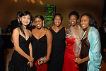 Ting Ting, Natara Williams, Angela Dixon, Brendettae Payne and Traci Jackson at the Socitey for the Performing Arts Gala at Jones Hall Saturday  March 29,2008.(Dave Rossman/For the Chronicle)