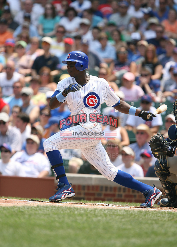 Alfonso Soriano of the Chicago Cubs vs. the San Diego Padres: June 18th, 2007 at Wrigley Field in Chicago, IL.  Photo by Mike Janes/Four Seam Images