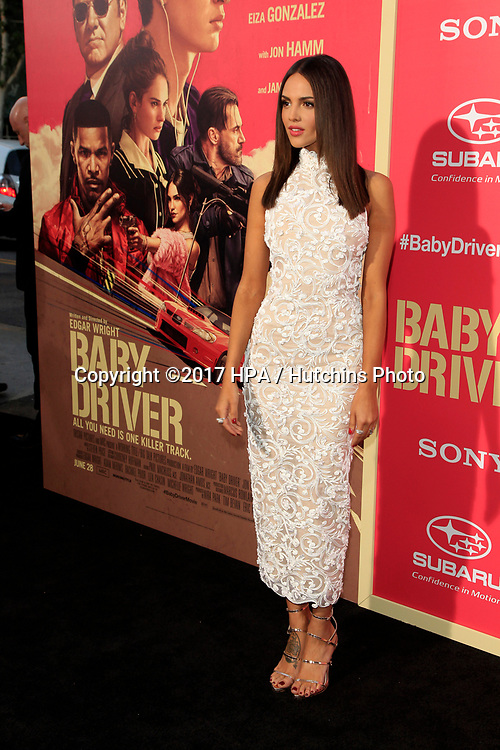 "LOS ANGELES - JUN 14:  Eiza Gonzalez at the ""Baby Driver"" Premiere at the The Theater at Ace Hotel on June 14, 2017 in Los Angeles, CA"