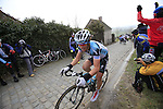 Sylvain Chavanel (FRA) Omega Pharma-Quick Step at the top of the cobbled climb of Paterberg during the 56th edition of the E3 Harelbeke, Belgium, 22nd  March 2013 (Photo by Eoin Clarke 2013)