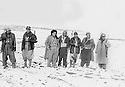 Iraq 1964.In Rania, 10 02 1964, from left 4th Jalal Talabani, 6th Sheikh Mohamed Kasnazaniand 6th Nafiz Jalal