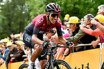Egan Bernal (COL) Team Ineos battles his way up La Planche des Belles Filles at the end of Stage 6 of the 2019 Tour de France running 160.5km from Mulhouse to La Planche des Belles Filles, France. 11th July 2019.<br /> Picture: Serge Waldbillig | Cyclefile<br /> All photos usage must carry mandatory copyright credit (© Cyclefile | Serge Waldbillig)