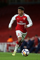 Dominic Thompson of Arsenal in action during Arsenal Youth vs Blackpool Youth, FA Youth Cup Football at the Emirates Stadium on 16th April 2018