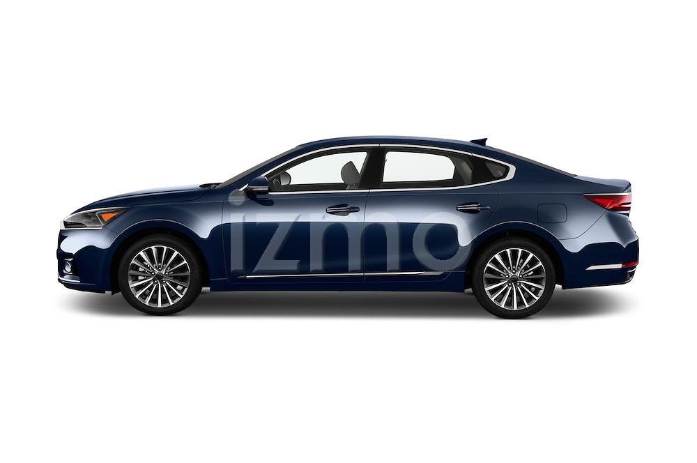 Car Driver side profile view of a 2018 KIA Cadenza Premium 4 Door Sedan Side View