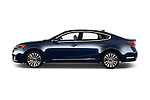 Car Driver side profile view of a 2017 KIA Cadenza Premium 4 Door Sedan Side View