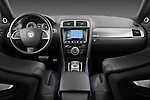 Straight dashboard view of a 2012 Jaguar XKR-S Coupe .