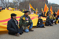 March 5, 2012  (Washington, DC)  Hundreds of Vietnamese and Vietnamese-American protesters gathered in front of the White House in Washington to protest what they say are human right abuses by the communist government of Vietnam against its own people. (Photo by Don Baxter/Media Images International)