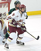 Dean Strong, Tim Kunes - The Boston College Eagles completed a shutout sweep of the University of Vermont Catamounts on Saturday, January 21, 2006 by defeating Vermont 3-0 at Conte Forum in Chestnut Hill, MA.