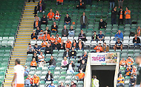 Blackpool fans watch their team in action <br /> <br /> Photographer Kevin Barnes/CameraSport<br /> <br /> The EFL Sky Bet League One - Plymouth Argyle v Blackpool - Saturday 15th September 2018 - Home Park - Plymouth<br /> <br /> World Copyright &copy; 2018 CameraSport. All rights reserved. 43 Linden Ave. Countesthorpe. Leicester. England. LE8 5PG - Tel: +44 (0) 116 277 4147 - admin@camerasport.com - www.camerasport.com