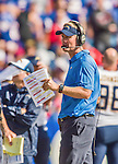 21 September 2014: San Diego Chargers head coach Mike McCoy works the sidelines during a game against the Buffalo Bills at Ralph Wilson Stadium in Orchard Park, NY. The Chargers defeated the Bills 22-10 in AFC play. Mandatory Credit: Ed Wolfstein Photo *** RAW (NEF) Image File Available ***