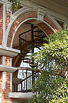 Spiral Staircase Up To The East Tower Of The Staff Quarters Building, Imperial Maritime Customs (1908), 2-6 Main Street On Shamian (Shameen) Island.