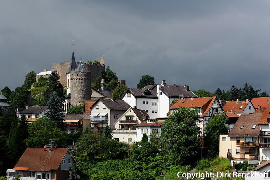 Burg in Lindenfels im Odenwald, Hessen, Deutschland