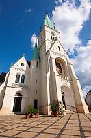 Neo Gothic Cathedral (Nagybuldoggasszony Stekesegyhaz)  of Kaposvar capital of Somogy county (megye), Hungary