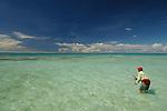 SALTWATER FLY FISHING IN ALPHONSE ISLAND, SEYCHELLES