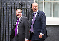 Scotland Secretary David Mundell and Transport Secretary Chris Grayling arrive for the cabinet meeting at 10 Downing street