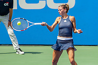 Washington, DC - August 4, 2019:  Camila Giorgi (ITA) hits a forehand shot during the Citi Open WTA Singles final at William H.G. FitzGerald Tennis Center in Washington, DC  August 4, 2019.  (Photo by Elliott Brown/Media Images International)