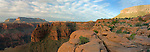 A panoramic image of Tuweep Area. The Esplanade Sandstone creates a wide flat(ish) terrace in most of western Grand Canyon.