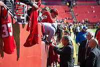 Landover, MD - November 4, 2018: Atlanta Falcons owner Author Blank signs autographs before the game between the Atlanta Falcons and the Washington Redskins at FedEx Field in Landover, MD. (Photo by Phillip Peters/Media Images International)