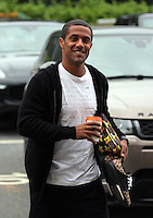 Pictured: Wayne Routledge arrives Monday 04 July 2016<br /> Re: Swansea City FC players at the Landore training ground, return for this season's preparation.