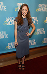 Laura Osnes attends Broadway Red Carpet Premiere of 'Speech & Debate'  at the American Airlines Theatre on April 2, 2017 in New York City.