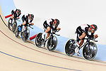 Japan team group (JPN), <br /> AUGUST 28, 2018 - Cycling - Track : Men's Team Pursuit Round 1 at Jakarta International Velodrome during the 2018 Jakarta Palembang Asian Games in Jakarta, Indonesia. <br /> (Photo by MATSUO.K/AFLO SPORT)