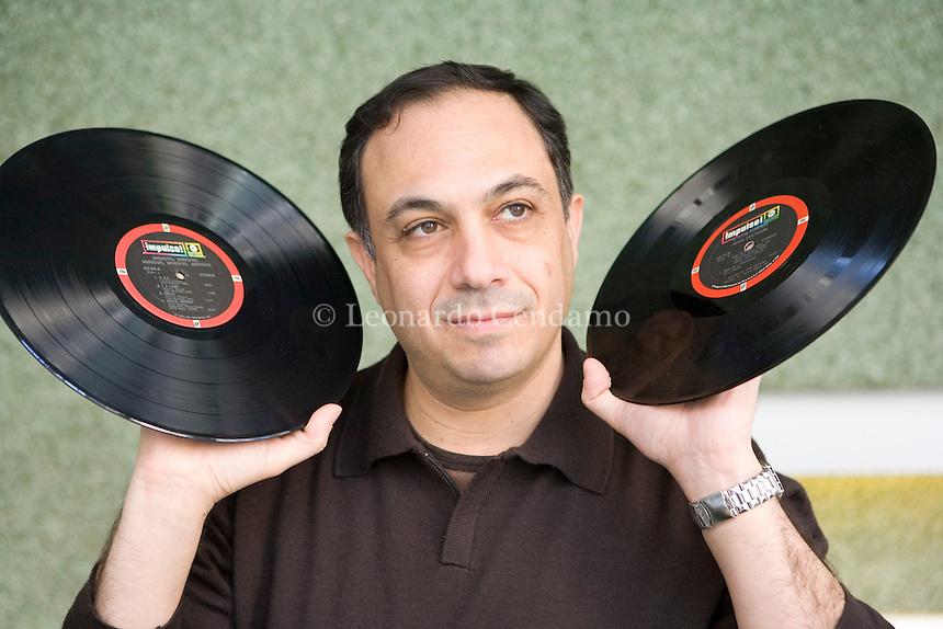 Milan, Italy, 2007. Ashley Kahn, author, music journalist, and radio producer.