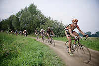 Tim Merlier (BEL/VastgoedService-Golden Palace) carefully leading over the slippery mud<br /> <br /> 90th Schaal Sels 2015