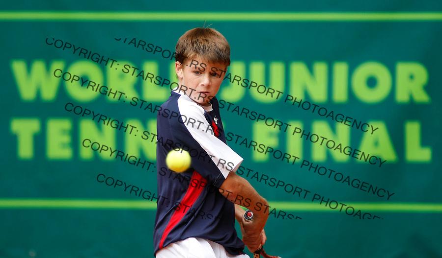 Tennis, world championship, U-14.USA-France, final match.Christian Harrison (USA)-Lucas Pouille (FRA).Christian Harrison.Prostejov, 08.09.2008..Photo: Srdjan Stevanovic.