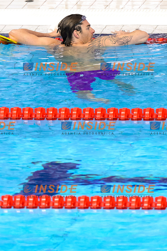 Camille LACOURT FRA <br /> 50m Backstroke Men Preliminary <br /> London, Queen Elizabeth II Olympic Park Pool <br /> LEN 2016 European Aquatics Elite Championships <br /> Swimming<br /> Day 10 18-05-2016<br /> Photo Andrea Staccioli/Deepbluemedia/Insidefoto